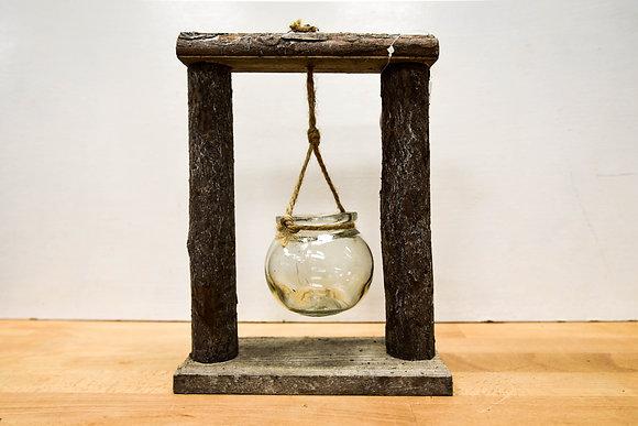 Wooden frame vase