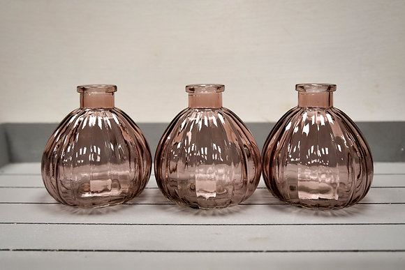 Glass bottle, Pink
