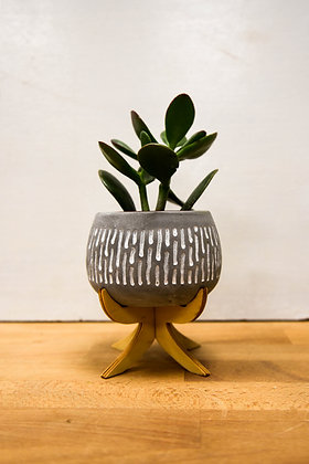 Grey spotted ceramic pot Small
