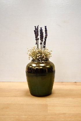 Gold, Green Vase