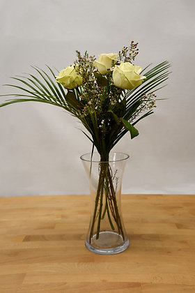 3 Avalanche white roses