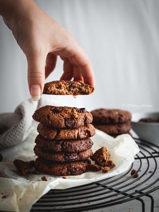 Cookies vegani al cioccolato