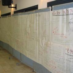 הקירות המלאים משמשים כתמונה כוללנית על האנשים על הארגון, והתמונה הגולבאלית