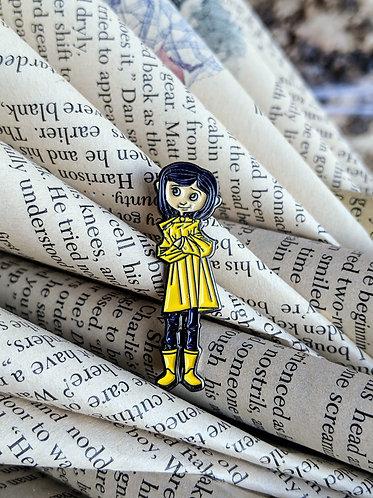 Coraline Neil Gaiman pin