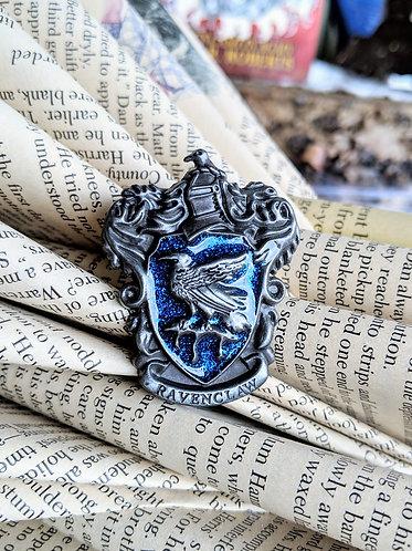 Brass Ravenclaw crest pin