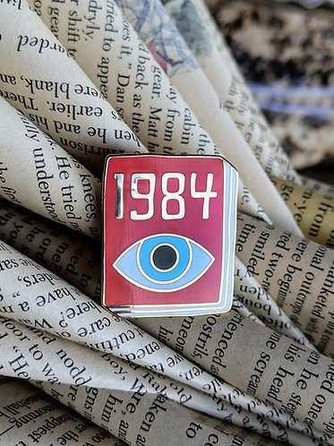1984 George Orwell Book pin