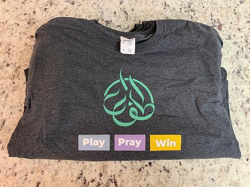Pray Play Win T-Shirt (Grey)