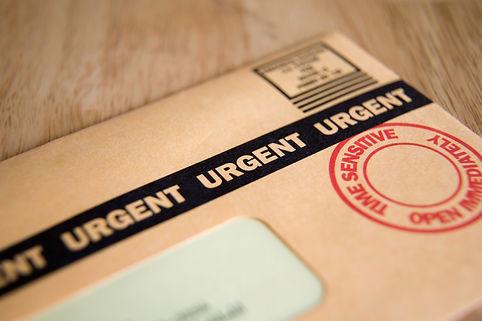 Urgent, Time Sensitive, Junk mail or bil