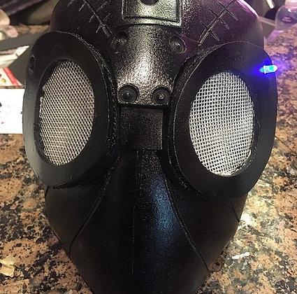 Black Adult Cosplay Future Spider-Man Helmet w/ LED Lights