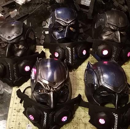 The Half Batman Mask Upgrades w/Custom LED Mouthpiece