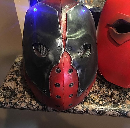 Adult Cosplay Deadpool Helmet w/ LED Lights