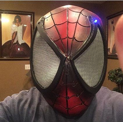 Adult Cosplay Spider-Man Helmet w/ LED Lights