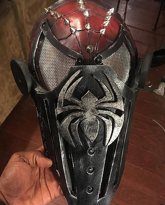 Red Medieval Knight Spider Man Face Mask for Kids & Adults