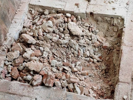 Discontinued Brick Breakout for Foundation Work – Lewisville