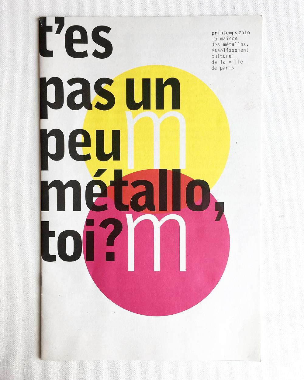 Catalog Design - Maison des Métallos