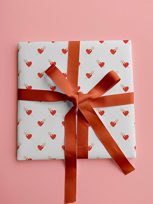 Heart n' Dagger Gift Wrap