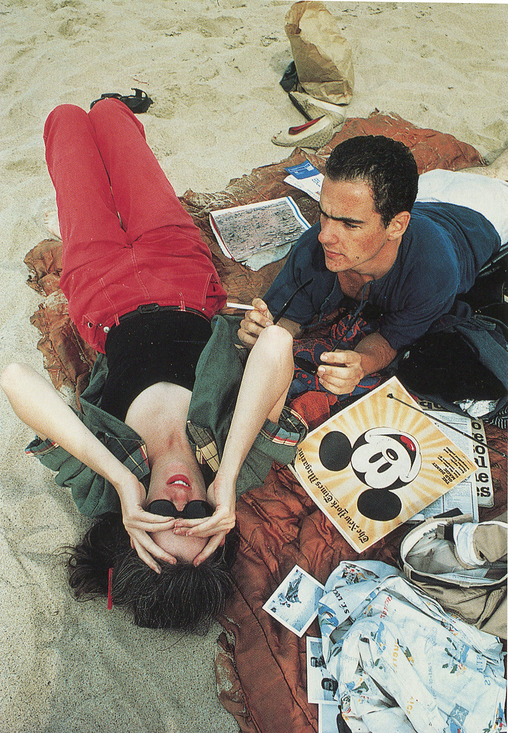 Nan Goldin, CZ and Max on the Beach, Massachusetts, 1976