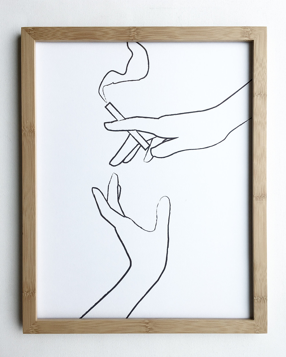 Heartthrob Studio Smokers Cigarette Print