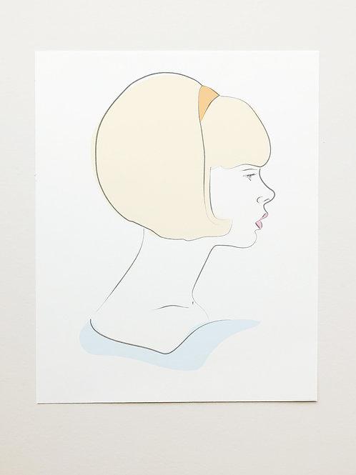 60's Silouette Print