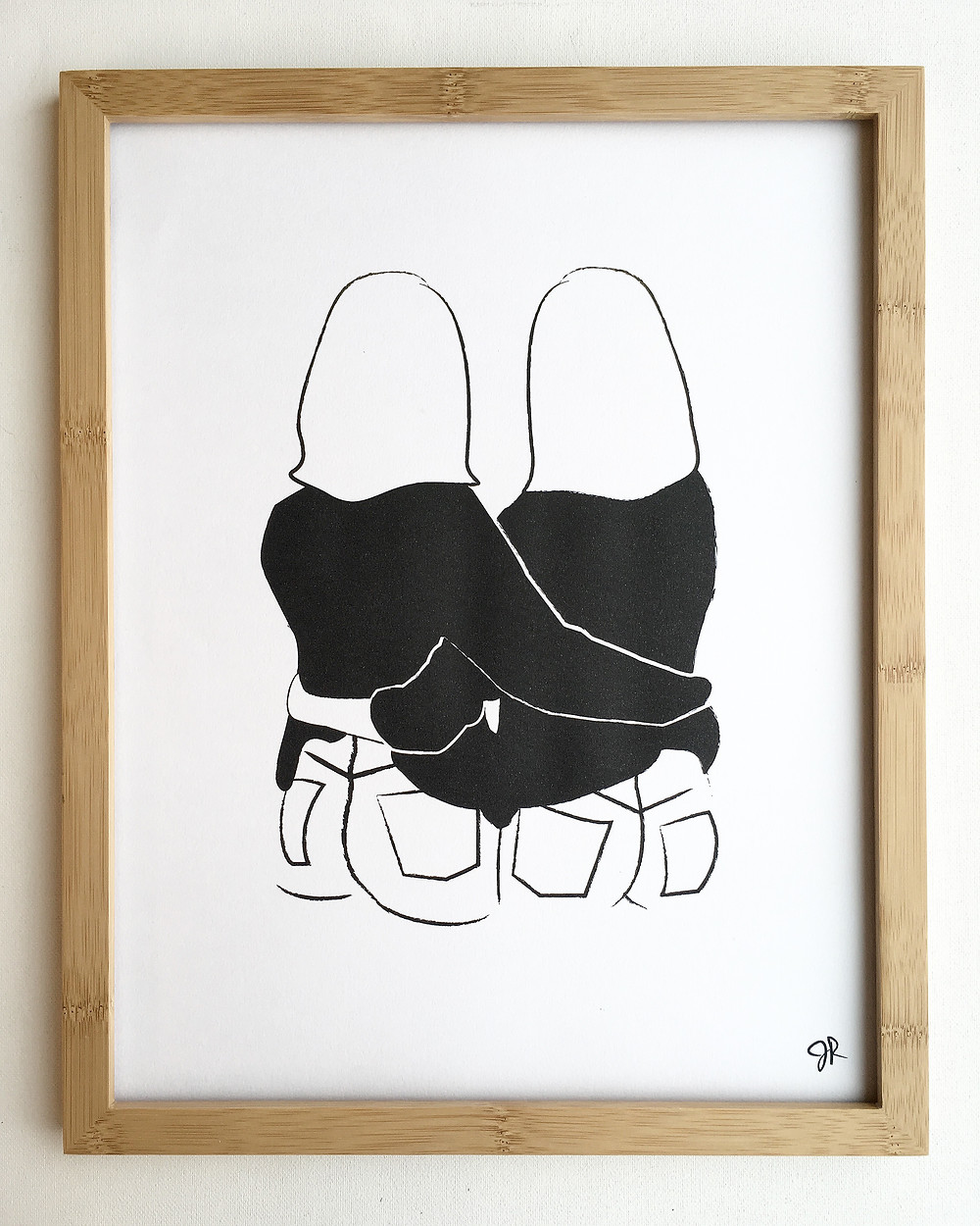 Heartthrob Studio Black & White BFF Art Print