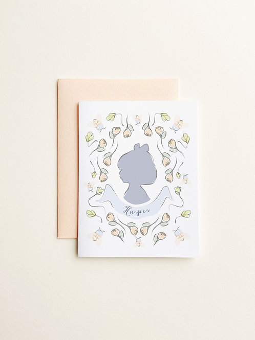 Girl Silhouette Social Stationery
