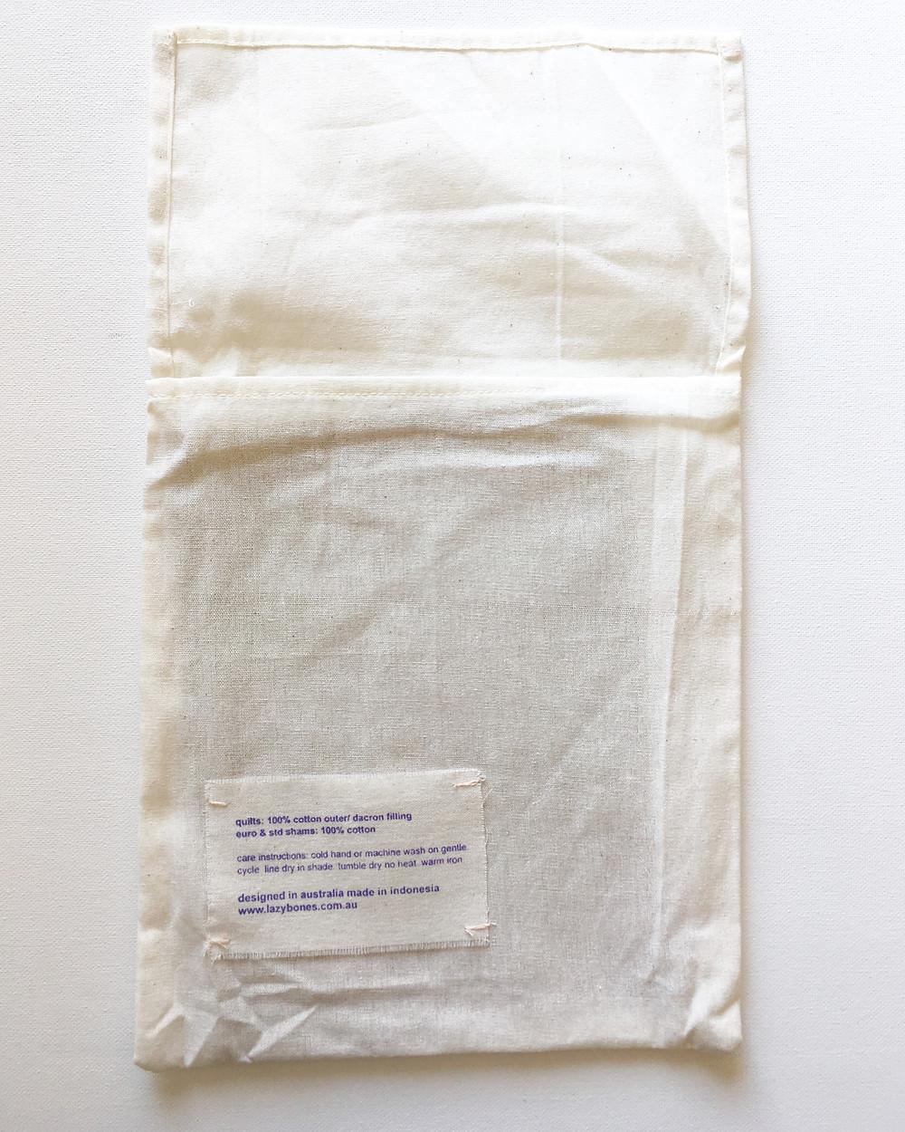 Packaging Design Lazybones Pillow Shams
