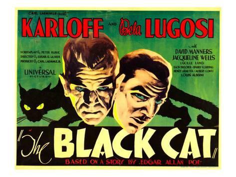 Karloff Bela Lugosi motion picture The Black Cat, 1934