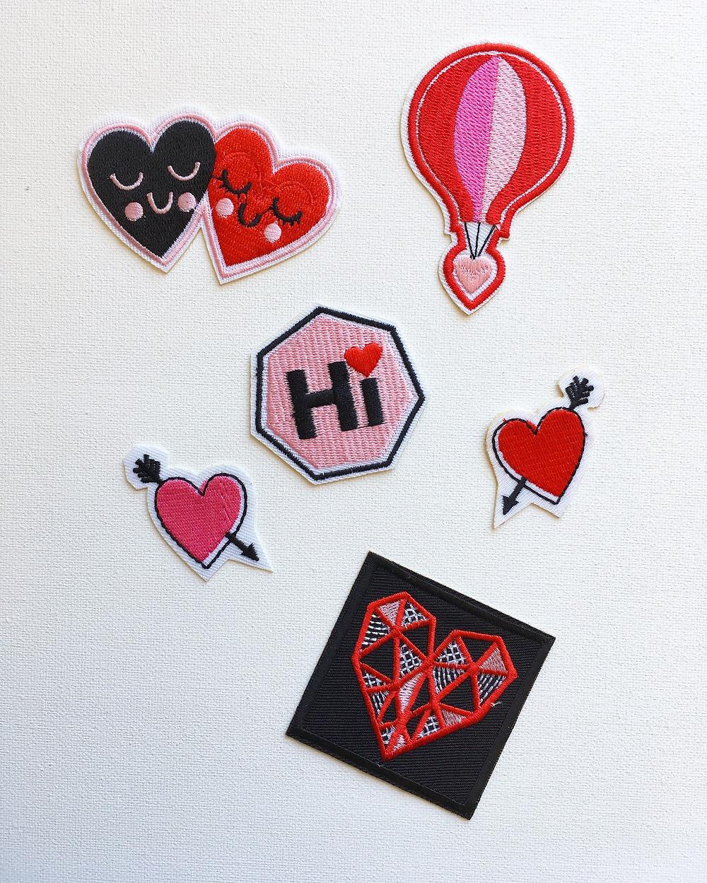 Claire's Valentine's Patches - Heartthrob Studio