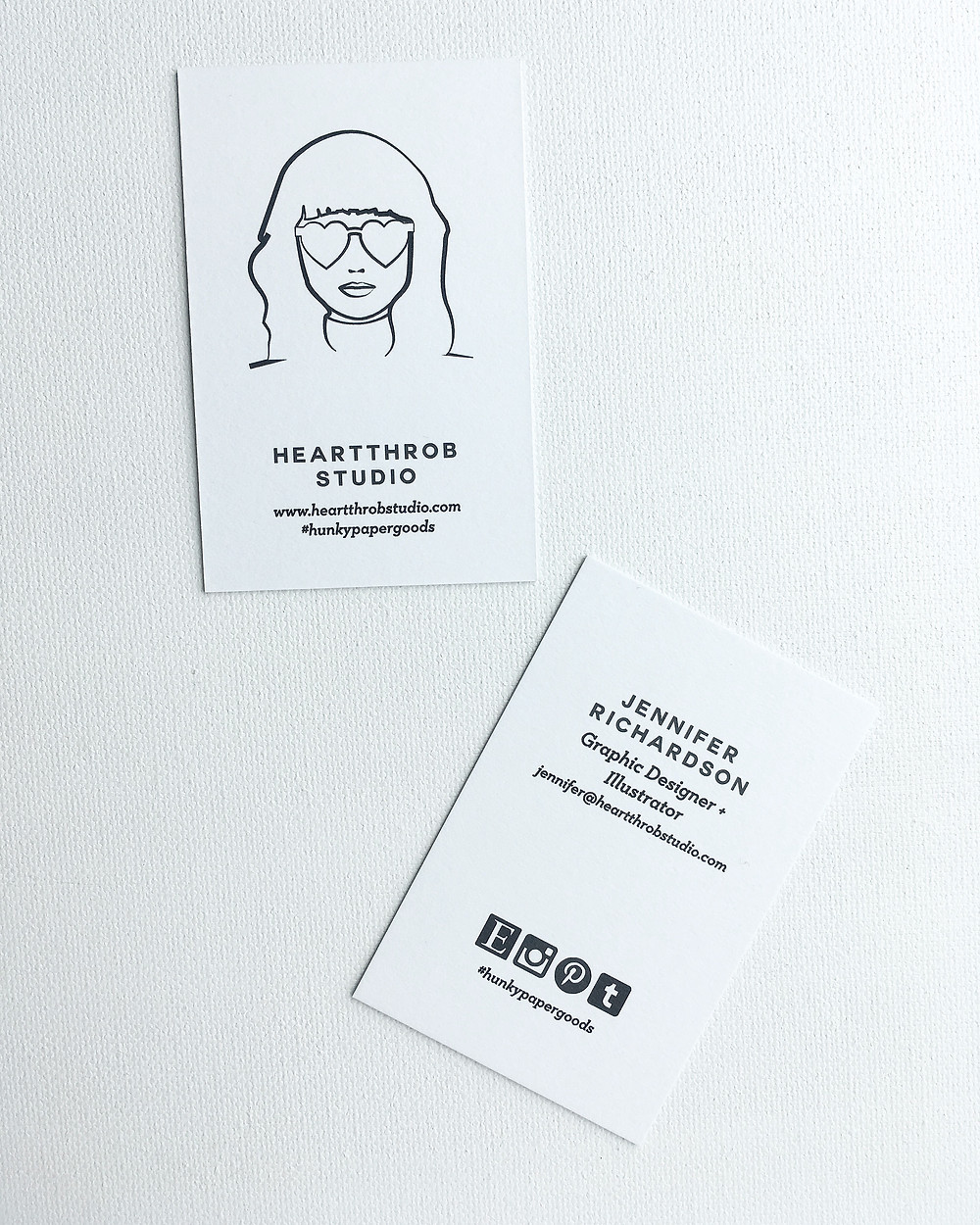 Heartthrob Studio Business Card, Logo
