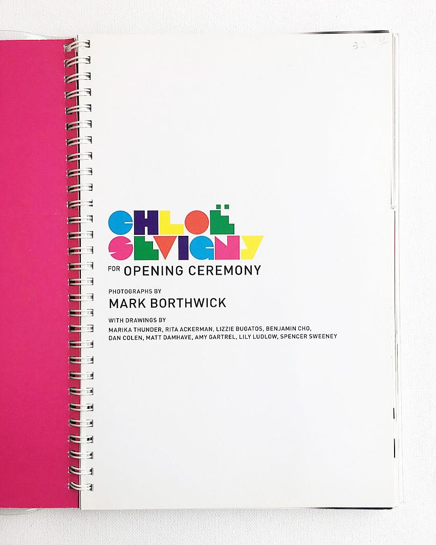 Chloe Sevigny for Opening Ceremony Logo