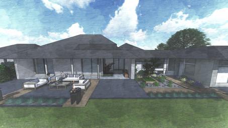 Perspective 3D - Aménagement terrasses
