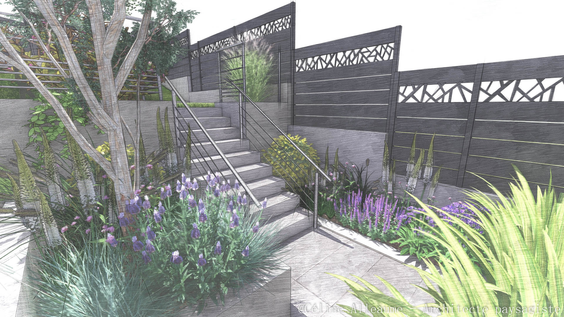 Escalier-terrasse-jardin-celine-alleaume