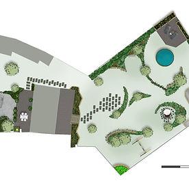Plan d'aménagement d'un jardin