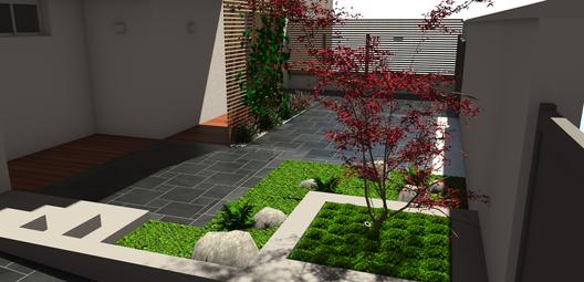 Perspective 3D - Aménagement terrasse