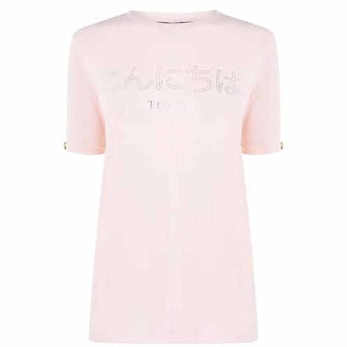 Golddigga Trend T Shirt LadiesColour Rose Size 8 (XS)