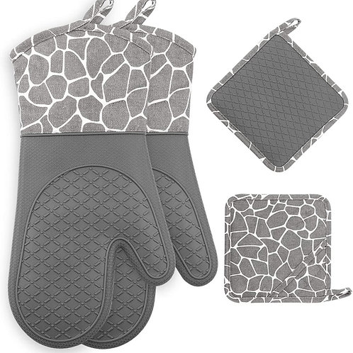 Gesentur Oven Gloves, Heat Resistant Silicone Oven Gloves, Non-Slip Kitchen.....