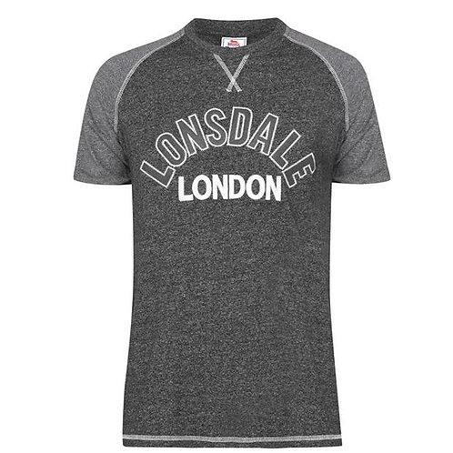 Lonsdale Short Sleeve T-Shirt MensColour Char Grey Size Medium