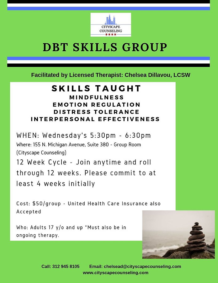 DBT Skills group therapy Chicago