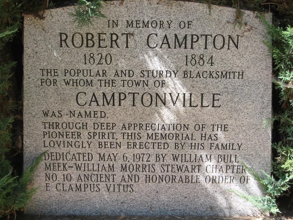 26.Stone plaque to Campton in Camptonville.jpg