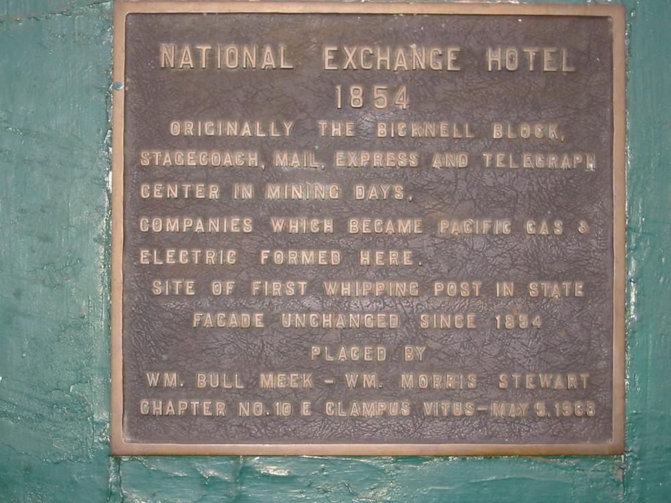 National Exchange Hotel, 1854