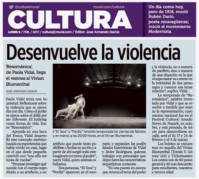 García. cultura@mural. 2017