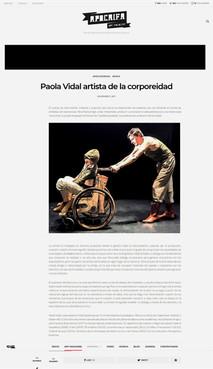 Aguilera. Apócrifa Art Magazine. 2017