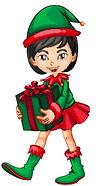 Mistletoe christmas elf