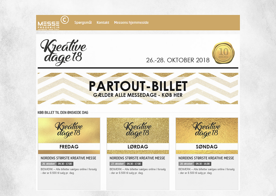 Publikumsmesse Billetsystem Billetportal Branding