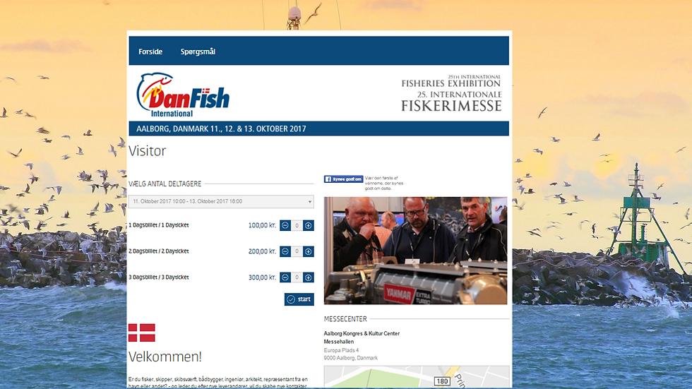 Danfish Fagmesse Registrering Onlineportal Branding