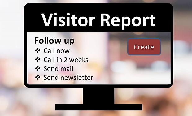 Lead Generator udstiller app besøgsrapport