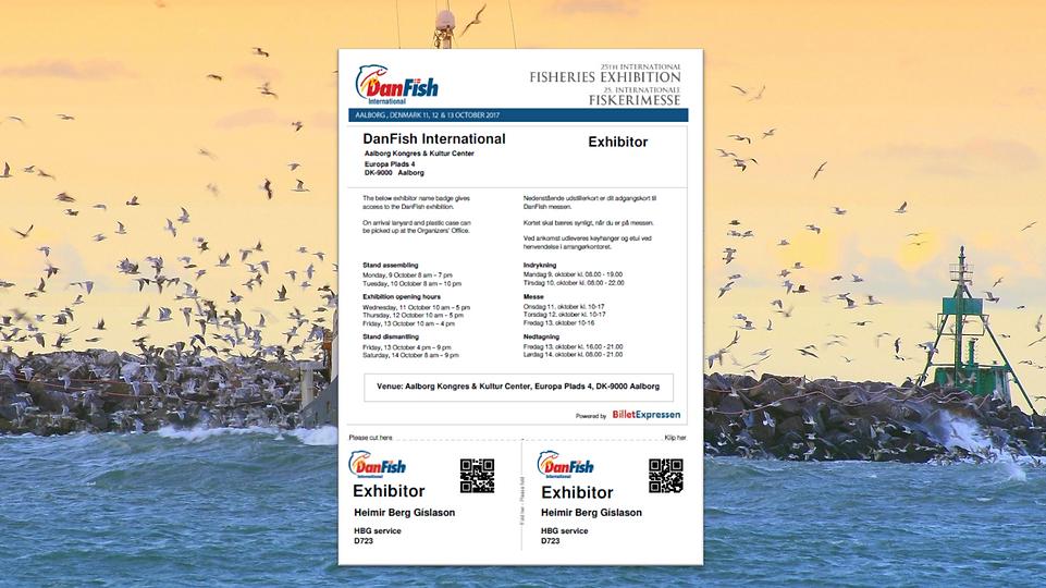 Danfish Fagmesse Registrering Navneskilt Web Branding
