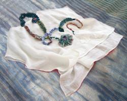 linen sleep shirt & winding garland