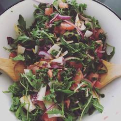 Salade de roquette et pamplemousse