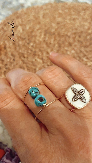 """Bague """"One wire"""" turquoise"""